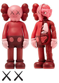 KAWS Companion Flayed Open Edition Vinyl Figure Blush Red Set