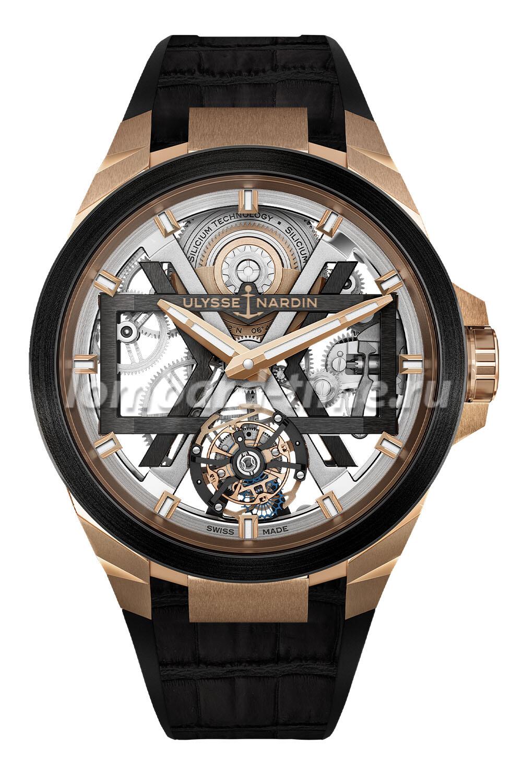 часы Ulysse-Nardin-Blast-Skeleton-Tourbillon-Rose-Gold-Blast