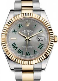 Rolex Datejust Rolesor 116333 Slate Green