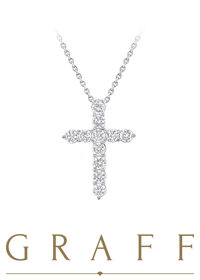 Подвеска Graff Round Diamond Cross Pendant Small RGP007