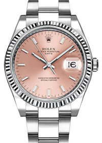 Rolex Oyster Perpetual Date 115234 Pink Dial