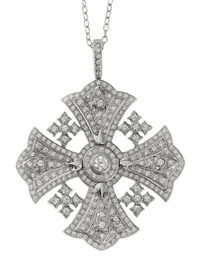 Подвеска Vendome Round Diamond Cross Pendant