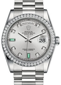 Rolex Day-Date II 218239 Ivory Romain Dial