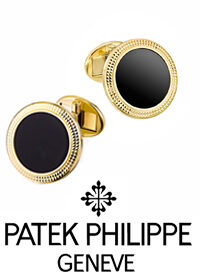 Запонки Patek Philippe Calatrava Black Onyx