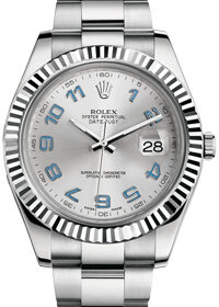 Rolex Datejust II 41 mm 116334 Blue Arabic