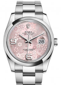Rolex Oyster Perpetual Datejust 36mm 116200 Rose Floral Dial