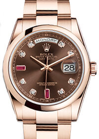 Rolex Day-Date Ruby Chocolate 36mm 118205