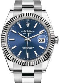 Rolex Datejust 41mm 126334 Blue Sunburn Dial