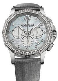 Corum Admirals Cup Ladies Chronograph 40 mm SS Diamonds 132.101.47/F149 PK11